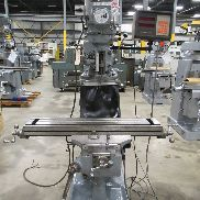 USED BRIDGEPORT SERIES I MODEL 2J VARIABLE SPEED VERTICAL MILL, 9″ X 42″