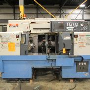 USED MAZAK MULTIPLEX 6200Y 8-AXIS CNC LATHE WITH TWIN TURRETS, LIVE TOOLING, Y-AXIS & MAZATROL PC-FUSION 640T CONTROL, 2″ BAR