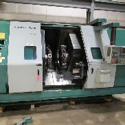 "USED NAKAMURA TOME MODEL TW-30MMY TWIN SPINDLE 7-AXIS CNC TURNING CENTER WITH FANUC 16TT CONTROL, 2.79"" BAR"