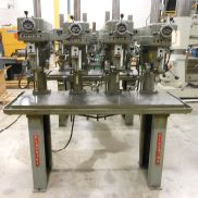 USED CLAUSING MODEL 1687 & 1668, 4-SPINDLE VARIABLE SPEED DRILL PRESS, 15""