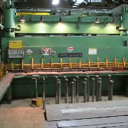 USED CINCINNATI MODEL 5FL12 HYDRAULIC SHEAR, 12′ X 5/8″