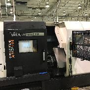 "USED HYUNDAI WIA LM-1800TTSY TWIN-SPINDLE, TWIN-TURRET CNC TURNING CENTER WITH LIVE TOOLING, Y-AXIS, C-AXIS AND FANUC SERIES 31i-A CNC CONTROL, 2.6"" BAR"