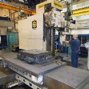 GEBRAUCHTE GIDDINGS & LEWIS MODELL PC-50 TISCHTYP HORIZONTAL BORING MILL MIT GIDDINGS & LEWIS 800M CNC CONTROL, 5 ""