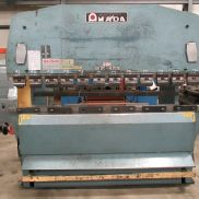 USED AMADA MODEL RG-100S UPACTING HYDRAULIC PRESS BRAKE, WITH DYNABEND 3 CONTROL, 100 TON X 102""