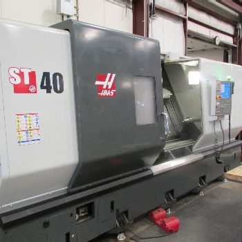 USED HAAS MODEL ST-40 CNC LATHE WITH TAILSTOCK & HAAS CNC CONTROL, 15″ CHUCK