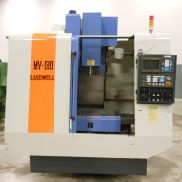 "USED LEADWELL MODEL MV-610 VERTICAL MACHINING CENTER WITH FANUC O-M CONTROL, 24"" X 16"" X 20"""