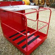 2 person 1250mm Fork Mounted Access Platform Side Gate Entry