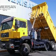 MAN TGA 33.360. 6X6. MEILLER TIPPER MANUAL CHANGE.