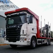 SCANIA R-500 6X4 SERIE14L. TIMBER TRUCK WITH CRANE