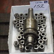 Devlieg Spiramatic Tappping Chuck with Quantity of Collets