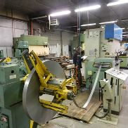 Dimeco decoil./ straight , LVD punchpress + rollforming