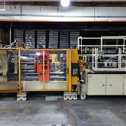 750 Ton Husky 2-Shot Injection Molding Machine, Model G750GEN DRS70/60 6, New In 2001