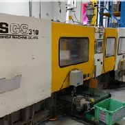 310 Ton Toshiba Injection Molding Machine, Model ISGS310, 19 Oz, Made New In 1998