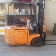 Forklift with charger