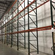 "14 BAYS OF 22'H x 42""D X 96""W TEARDROP STYLE PALLET RACK, (3 BEAM LEVEL)"