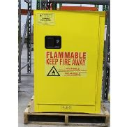 12 GALLON NEW FLAMMABLE SELF CLOSING SAFETY STORAGE CABINET,