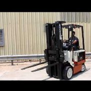 2005 NISSAN 4000 LBS CAPACITY ELECTRIC FORKLIFT WITH 2014 BATTERY, (WATCH VIDEO)