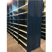 "52 SECTIONS OF HALLOWELL H-POST CLOSED SHELVING (BACK TO BACK), SIZE: 98""H X 18""D X 36""W"