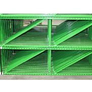 "28 BAYS OF TEARDROP STYLE PALLET RACK, LIKE NEW, SIZE: 8'H x 24""D X 96""W"