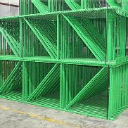 "14 BAYS OF TEARDROP STYLE PALLET RACK, LIKE NEW, SIZE: 12'H x 42""D X 8'W"