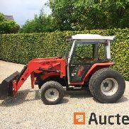 Massey Ferguson 1260 compact tractor with front loader