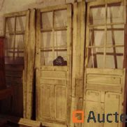 3 glazed doors with oak frame