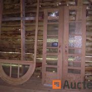 Double glazed pitch pine door