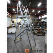 Aluminum staircase 8 steps mobile Zarges