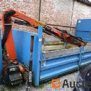 AVG waste container with crane Palfinger PK4501