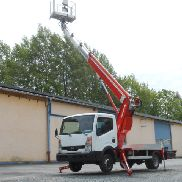 Nissan Cabstar Multitel with MT222AZ truck mounted aerial platforms