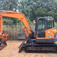 Doosan DX80R Excavator, Year 2012, Tracks 65%, Two Speed Tracking, Quick Hitch, Piped, c/w 1 Bucket