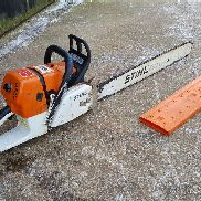 Stihl ms660 petrol powered chainsaw with 30 inch bar