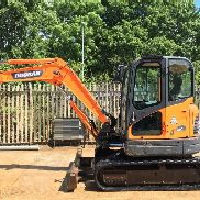 Doosan Dx60R Excavator, Year 2011, 4336 hours, Tracks 80%, Two Speed Tracking, Piped, c/w 2 Buckets