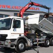 MERCEDES BENZ ACTROS 2636 / 6×4 CRANE HYDRAULIC SIDE TIPPER
