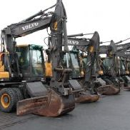 WHEEL EXCAVATORS VOLVO EW 180C / EW 160C / EW 140C MANY UNITS!