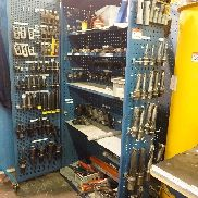 Cabinet with U Drills, Boring Bar Holders, Capto Tooling, VDI 50 Tooling and Drills
