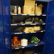 Cupboards with Straps, Electric Saw, Battery Operated Bander and Cupboard