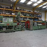 In Line Welex Coextrusion PS Line with Illig RDM 50K POT4 Cup Forming Machine with Mechanical Plug, RS75B Skeletal Grinder, Illig Stacker, 125mm Max Draw (1996)