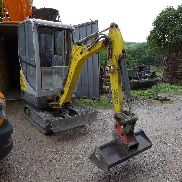 1 mini-chain excavator Wacker Neuson 1404 RD (incl. Attachments)
