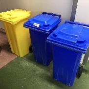 3 plastic waste containers