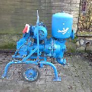 Piston / diaphragm water pump with an electric motor, but bulged functional