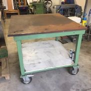 Welding table with wheels / rollers