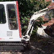 Minibagger Takeuchi TB 15 with adjustable landing gear, incl. 2 blades