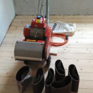 Parquet Grinding Machine Bona Örebro Midi 200 as Flexidrum with abrasives