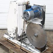 Miter cutting saw for aluminum with 3 CNC Indramat servo motor axes blade ø500mm