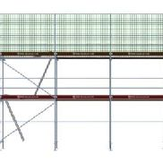 Roof scaffold approximately 13.00 m wide and 6.50 m working height (134003)