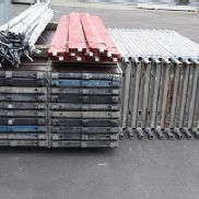 202.62 m² used scaffolding with aluminum Robust decks Layher MJ Assco Alfix (131120)