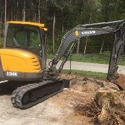 Volvo ECR48C ECR 48 C Mini excavator 4,9T tail swing Bj2010