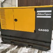 Atlas Copco QAS60 QAS 60 sound-proof power generators 60kVA year 2007