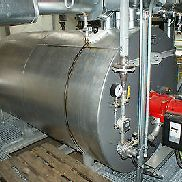 HEIZA --- thermal oil boiler system with burner and pump built: 2008. Mint